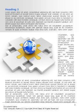 International Solutions Word Template, First Inner Page, 08507, Global — PoweredTemplate.com