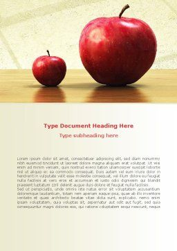 Sweet Apples Word Template, Cover Page, 08509, Consulting — PoweredTemplate.com