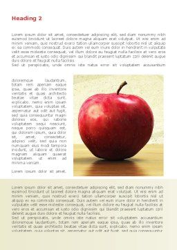 Sweet Apples Word Template, First Inner Page, 08509, Consulting — PoweredTemplate.com