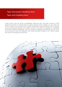 Installation Of Part Of The Whole Word Template, Cover Page, 08511, Consulting — PoweredTemplate.com