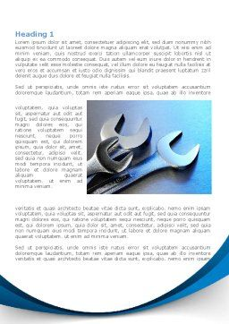 Metal Spanners Word Template, First Inner Page, 08513, Utilities/Industrial — PoweredTemplate.com