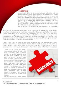 Success Puzzle Word Template, First Inner Page, 08514, Business Concepts — PoweredTemplate.com