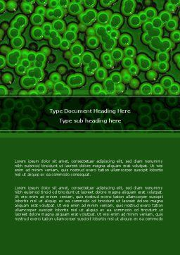 Chlorophylls Word Template, Cover Page, 08523, Medical — PoweredTemplate.com