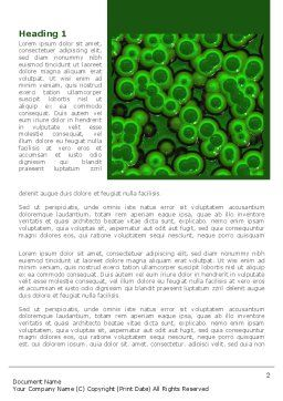 Chlorophylls Word Template, First Inner Page, 08523, Medical — PoweredTemplate.com