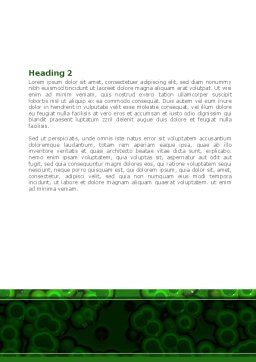Chlorophylls Word Template, Second Inner Page, 08523, Medical — PoweredTemplate.com