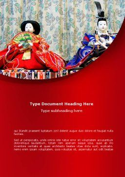 Japanese Traditions Word Template Cover Page