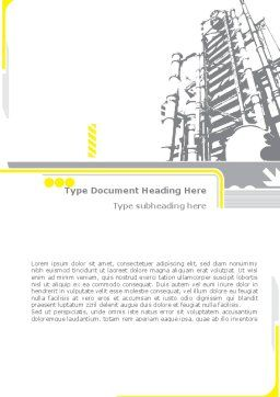 Chemical Industry Rectification Column Word Template, Cover Page, 08526, Utilities/Industrial — PoweredTemplate.com