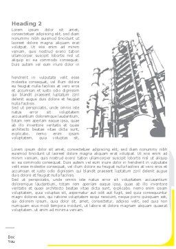 Chemical Industry Rectification Column Word Template, First Inner Page, 08526, Utilities/Industrial — PoweredTemplate.com