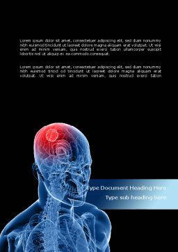 Brain Inflammation Word Template, Cover Page, 08527, Medical — PoweredTemplate.com