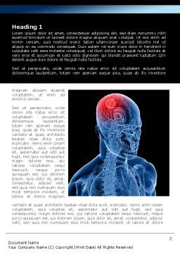 Brain Inflammation Word Template, First Inner Page, 08527, Medical — PoweredTemplate.com