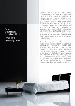 Hotel Interior Word Template Cover Page