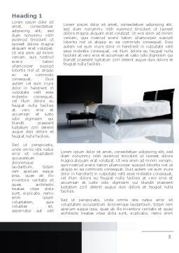 Hotel Interior Word Template First Inner Page