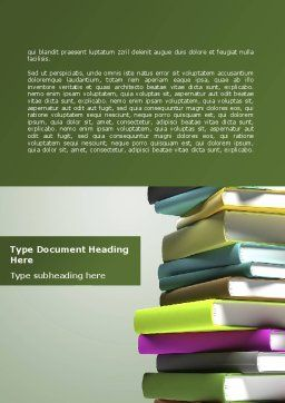 Source Of Knowledge Word Template, Cover Page, 08530, Education & Training — PoweredTemplate.com