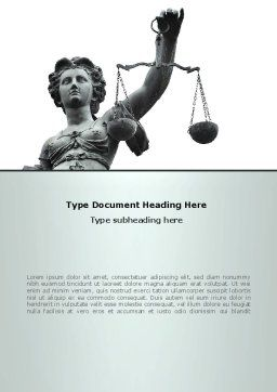 Themis Goddess of Justice Word Template, Cover Page, 08531, Legal — PoweredTemplate.com
