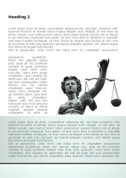 Themis Goddess of Justice Word Template, First Inner Page, 08531, Legal — PoweredTemplate.com