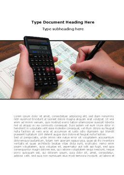 Financial Calculating Word Template, Cover Page, 08532, Financial/Accounting — PoweredTemplate.com