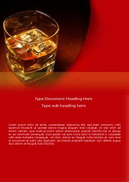Whiskey in Rock Word Template, Cover Page, 08534, Food & Beverage — PoweredTemplate.com
