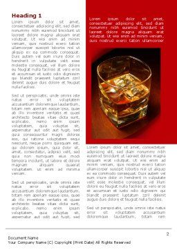 Whiskey in Rock Word Template, First Inner Page, 08534, Food & Beverage — PoweredTemplate.com