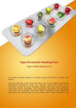 Healthy Pills Word Template, Cover Page, 08536, Careers/Industry — PoweredTemplate.com