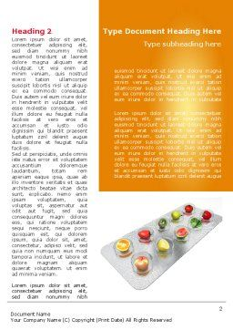 Healthy Pills Word Template First Inner Page
