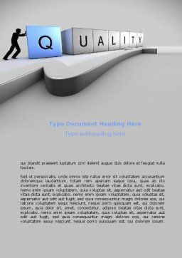 Quality Control Word Template, Cover Page, 08537, Consulting — PoweredTemplate.com