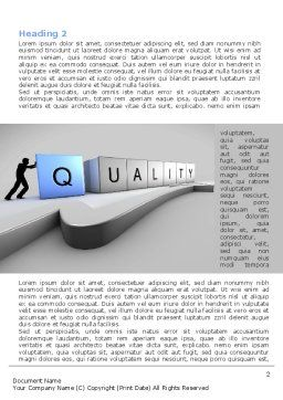 Quality Control Word Template, First Inner Page, 08537, Consulting — PoweredTemplate.com