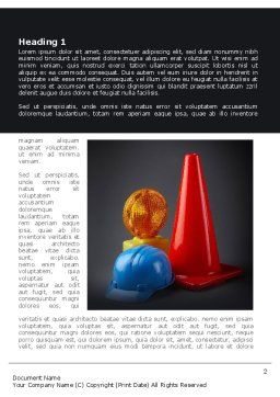 Roadworks Word Template, First Inner Page, 08538, Construction — PoweredTemplate.com
