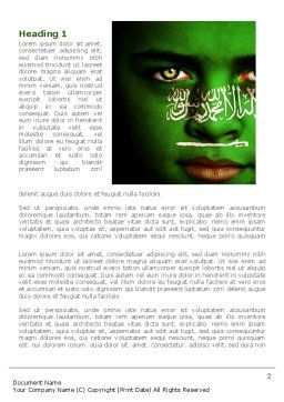 Moslem World Word Template First Inner Page