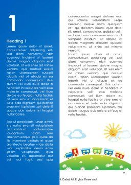 Jolly Train Ride Word Template, First Inner Page, 08543, Education & Training — PoweredTemplate.com