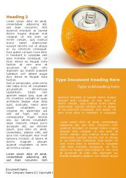 Orange In Can Word Template First Inner Page
