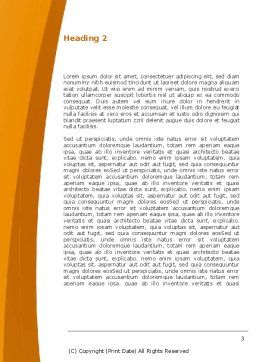 Orange In Can Word Template Second Inner Page