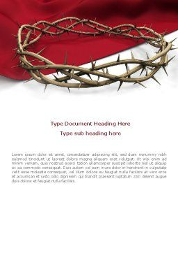 Crown Of Thorns Word Template Cover Page