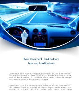 Ride Fast Word Template, Cover Page, 08547, Cars/Transportation — PoweredTemplate.com