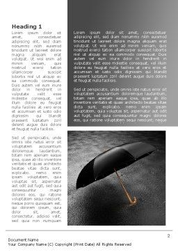 Rainy Day Word Template, First Inner Page, 08550, Consulting — PoweredTemplate.com