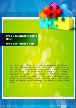 Mortgage Banking Word Template, Cover Page, 08553, Consulting — PoweredTemplate.com
