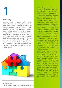Mortgage Banking Word Template, First Inner Page, 08553, Consulting — PoweredTemplate.com