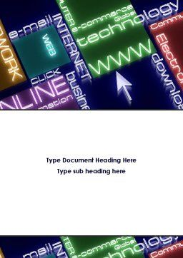 Online Technology Word Template, Cover Page, 08560, Technology, Science & Computers — PoweredTemplate.com
