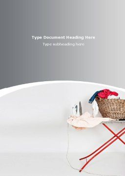 Homemaking Word Template Cover Page