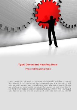 Specialist Word Template, Cover Page, 08563, Business Concepts — PoweredTemplate.com