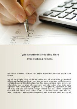 Calculation Accounts Word Template, Cover Page, 08565, Financial/Accounting — PoweredTemplate.com