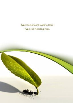 Spring Ant Word Template, Cover Page, 08566, Business Concepts — PoweredTemplate.com