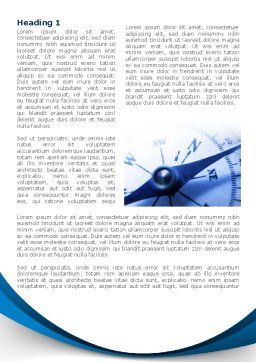 Blue Compass Word Template, First Inner Page, 08568, Business Concepts — PoweredTemplate.com