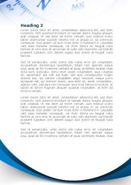 Blue Compass Word Template Second Inner Page