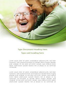 Elderly Couple Word Template, Cover Page, 08571, People — PoweredTemplate.com
