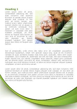 Elderly Couple Word Template, First Inner Page, 08571, People — PoweredTemplate.com