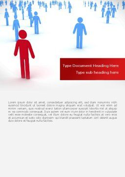 Leader Of Community Word Template, Cover Page, 08572, People — PoweredTemplate.com