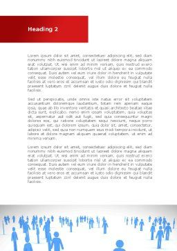 Leader Of Community Word Template, Second Inner Page, 08572, People — PoweredTemplate.com