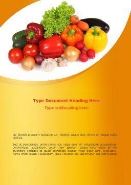 Vegetable Diet Word Template Cover Page