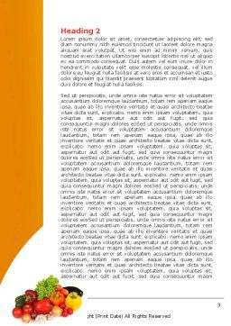 Vegetable Diet Word Template Second Inner Page