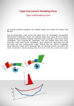 Diagram Smile Word Template, Cover Page, 08575, Consulting — PoweredTemplate.com
